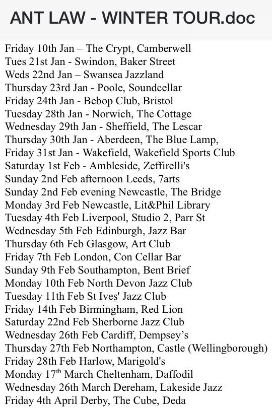 Ant Law Tour Dates 2014